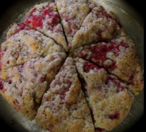 raspberry and white chocolate scone