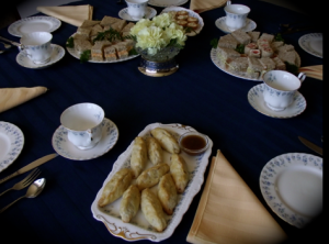 high tea sandwiches and hot savouries
