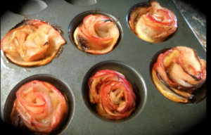 apples roses in puff pastry