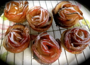 apple rose strudels