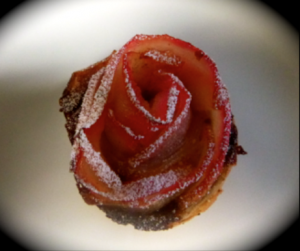 rose apple in puff pastry